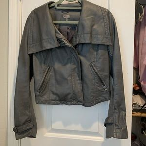 CUSP gray leather jacket